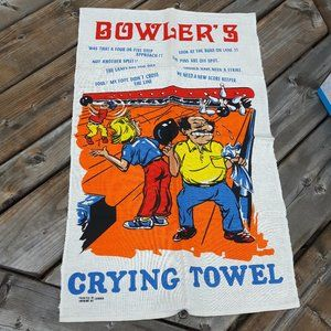 Bowler's crying Linen Tea towel unused Textilimpex